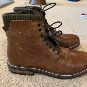 NWT Crevo Brown Leather Boot- Size 10
